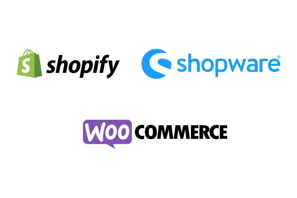 Shopify, Shopware und Woocommerce im Vergleich